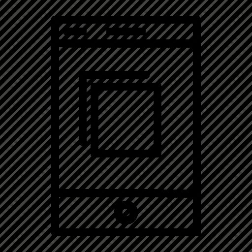 application, copy, mobile, mobile application, smartphone icon