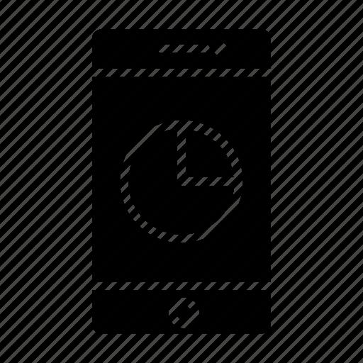 analytics, chart, data usage, smartphone, storage, used space icon