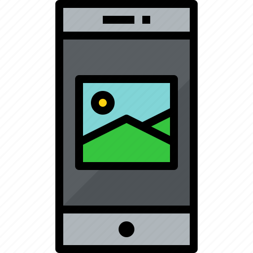 commnication, device, picture, smartphone, technology icon