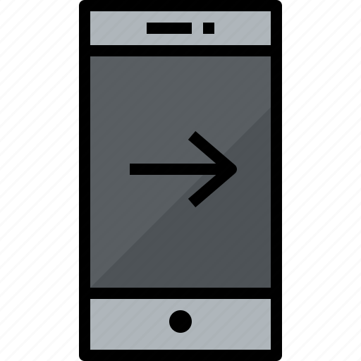 commnication, device, right, smartphone, technology icon