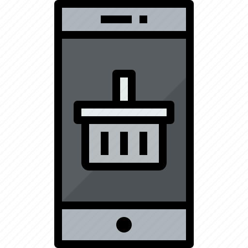 commnication, device, shopping, smartphone, technology icon