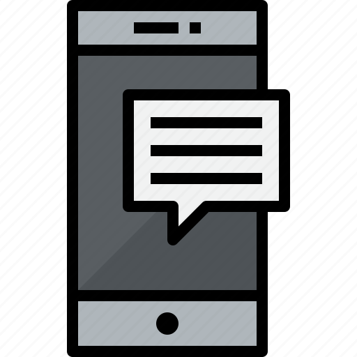 commnication, device, smartphone, talk, technology icon
