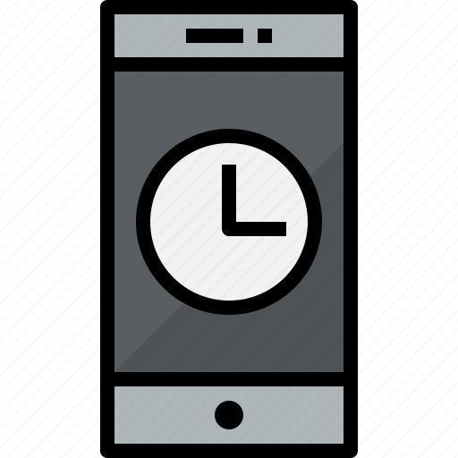 commnication, device, smartphone, technology, time icon
