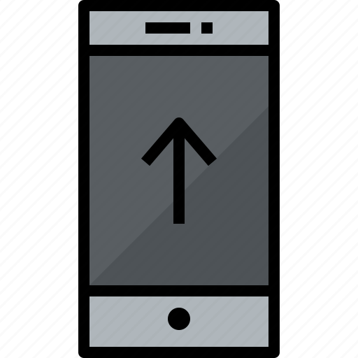 commnication, device, smartphone, technology, up icon