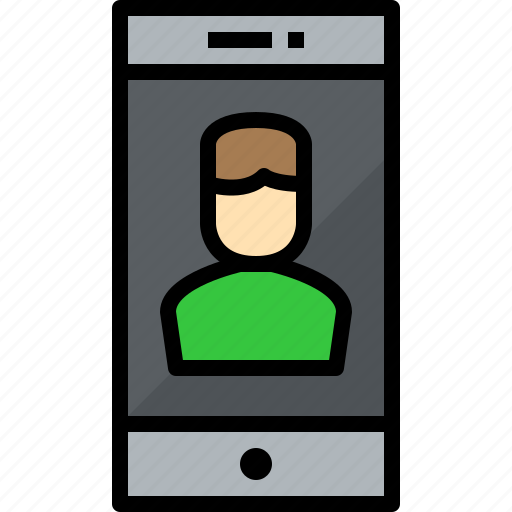 commnication, device, smartphone, technology, user icon