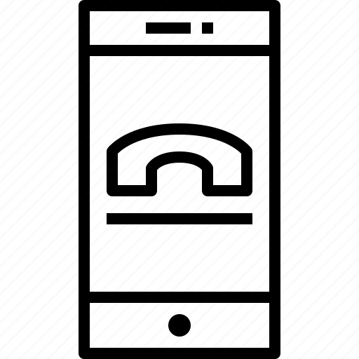 call, communication, device, smartphone, technology icon
