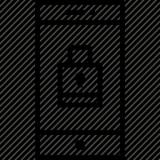 communication, device, lock, smartphone, technology icon