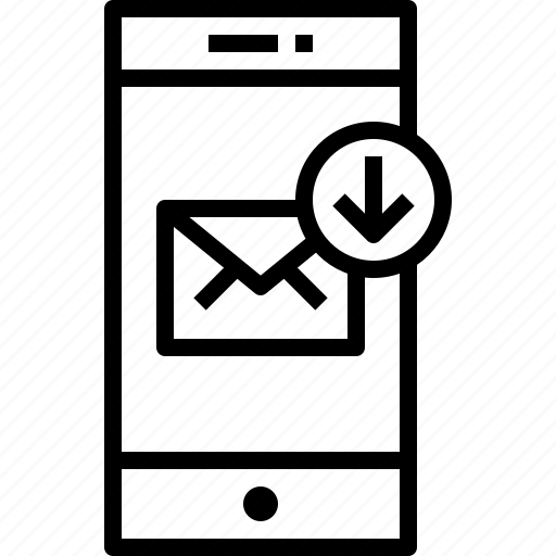 arrow, communication, device, mail, smartphone, technology icon