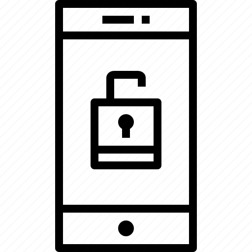 communication, device, smartphone, technology, unlock icon