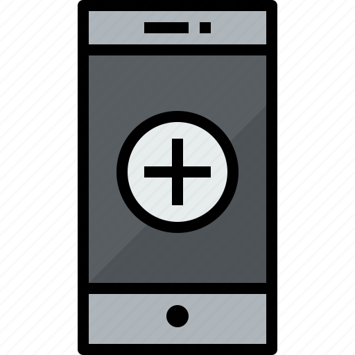 add, commnication, device, smartphone, technology icon