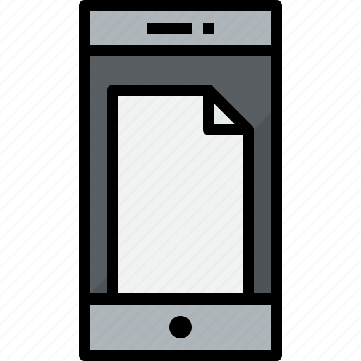 commnication, device, doc, smartphone, technology icon