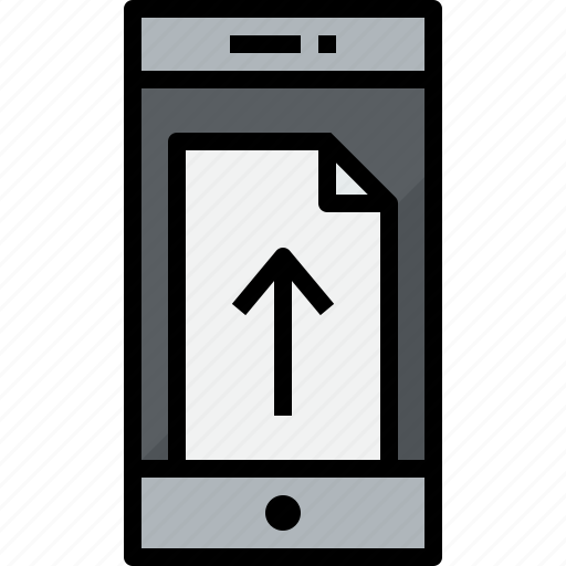 commnication, device, doc, smartphone, technology, up icon