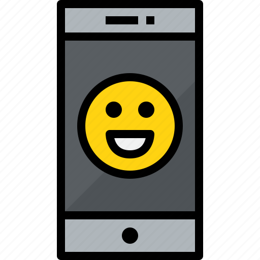 commnication, device, emotion, smartphone, technology icon