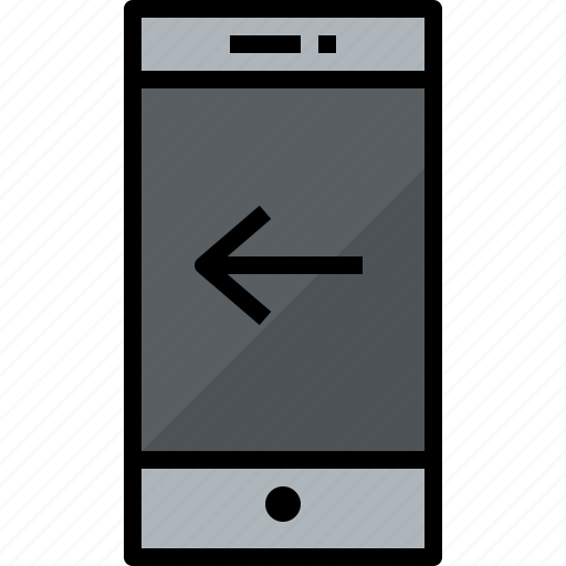 commnication, device, left, smartphone, technology icon