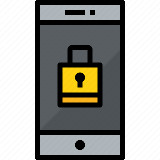 commnication, device, lock, smartphone, technology icon