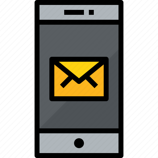 commnication, device, mail, smartphone, technology icon
