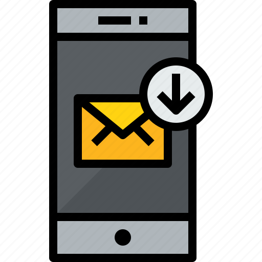 arrow, commnication, device, mail, smartphone, technology icon