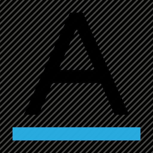 caps lock, font, format, letter, text, title, underline icon