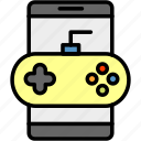 controller, game, games, mobile games, phone, playing, smartphone icon