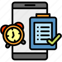alarm, date, event, schedule, smartphone, timer, watch icon
