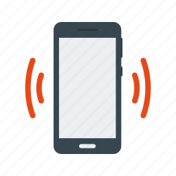 cell, mobile, mode, phone, silent, vibrate, vibration icon