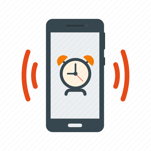 alarm, clock, reminder, ring, smartphone, sound, time icon