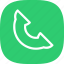 android, call, flat color, flat design, ios, iphone, phone, simple icon, smartphone icon
