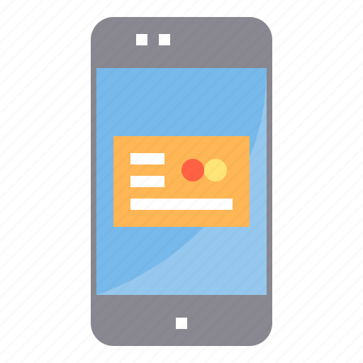 card, credit, internet, mobile, online, payment, smartphone icon