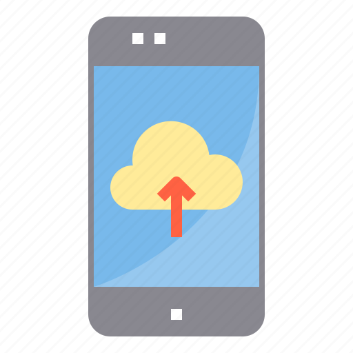 cloud, data, internet, mobile, online, smartphone, upload icon