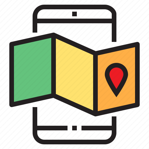 app, application, function, map, mobile, phone, smartphone icon