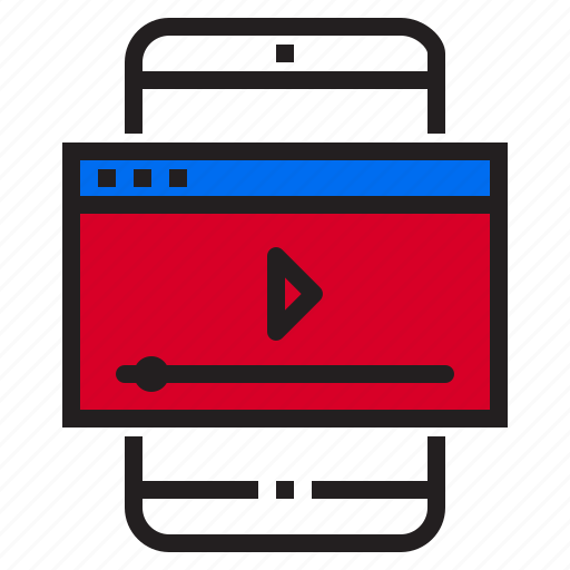 application, function, mobile, phone, play, smartphone, vdo icon