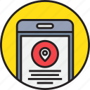 app, device, location, map, mobile, smartphoe icon