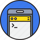 app, code, coding, development, device, mobile, smartphoe icon