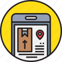 app, delivery, device, mobile, service, shipping, smartphoe icon