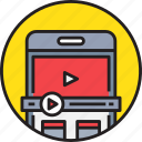 app, device, media, mobile, smartphoe, video icon