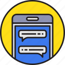 app, communication, device, mail, message, mobile, smartphoe icon