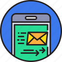 app, communication, device, email, mail, mobile, smartphoe icon