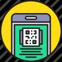 app, code, device, gadget, mobile, qr, smartphoe icon