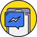 app, chat, device, message, mobile, smartphoe icon