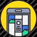 app, device, mobile, photo, site, smartphoe, web icon