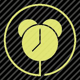 alarm, alert, clock, morning, ring, wake, watch icon