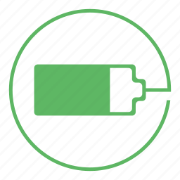 battery, charge, charging, energy, on, power, supply icon