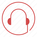 headphones, listen, media, music, player, video icon