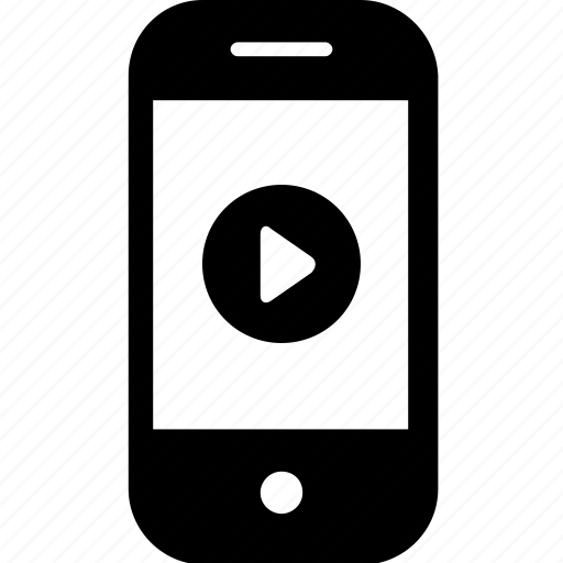 device, gadget, mobile, play, smartphone, video icon