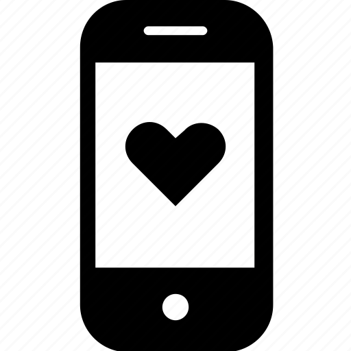 device, gadget, heart, like, love, mobile, smartphone icon