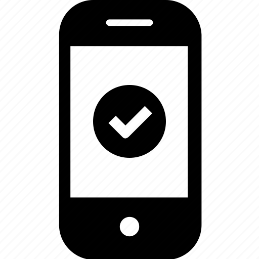 check, checked, device, gadget, good, mobile, smartphone icon