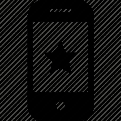 device, favourite, gadget, mobile, smartphone, stars icon
