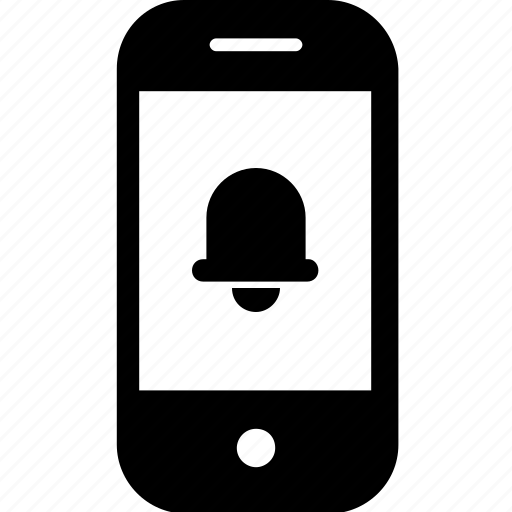 bell, device, gadget, mobile, notification, smartphone icon