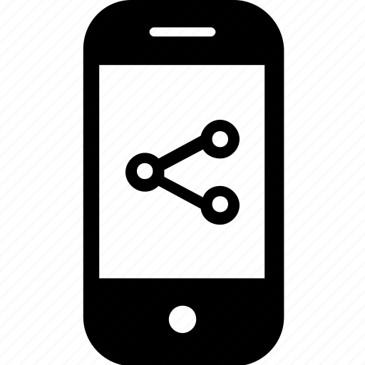 device, gadget, mobile, share, smartphone icon