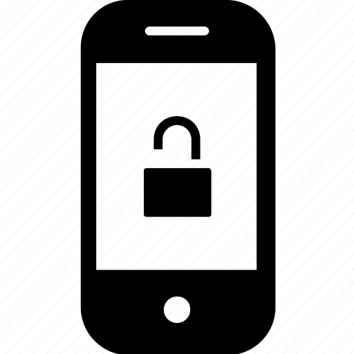 device, gadget, insecure, mobile, smartphone, unlock icon